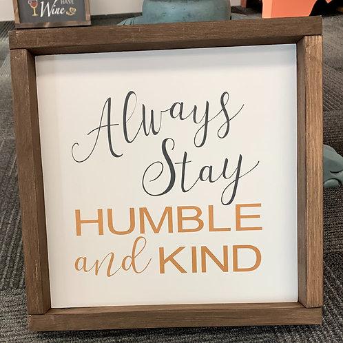 Humble and Kind 12x12