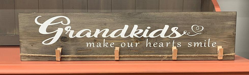 Grandkids Heart Photo Hanger