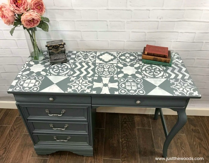 painted-desk-with-stencil-cutting-edsge-