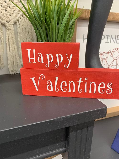 Happy Valentines Mini Word Blocks