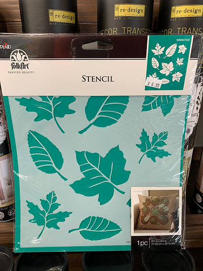 FolkArt Stencil -Leaves