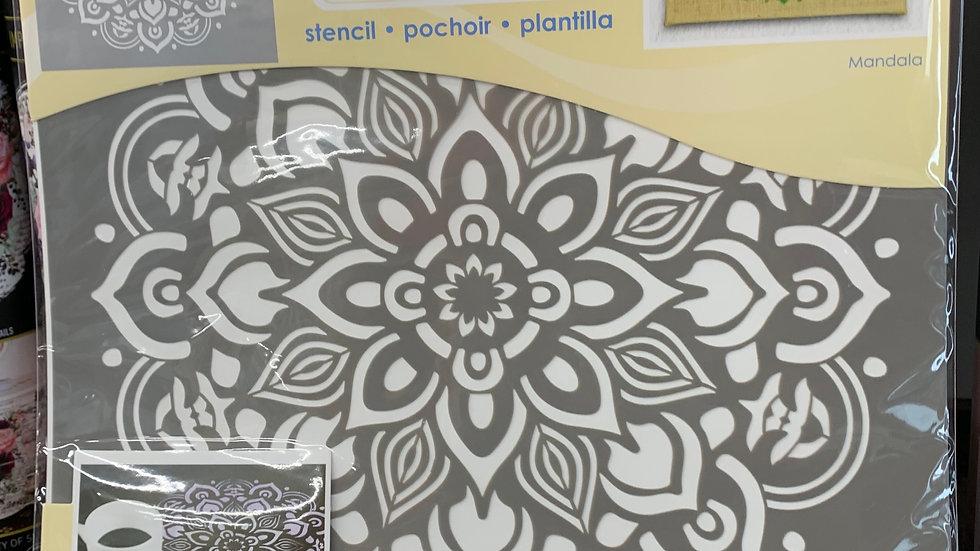 "DecoArt 12"" Stencil -Mandala"