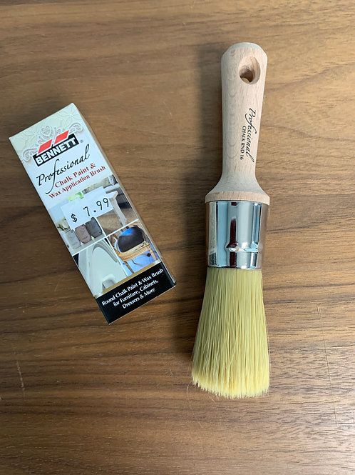 Bennett Round Chalk and Wax Brush