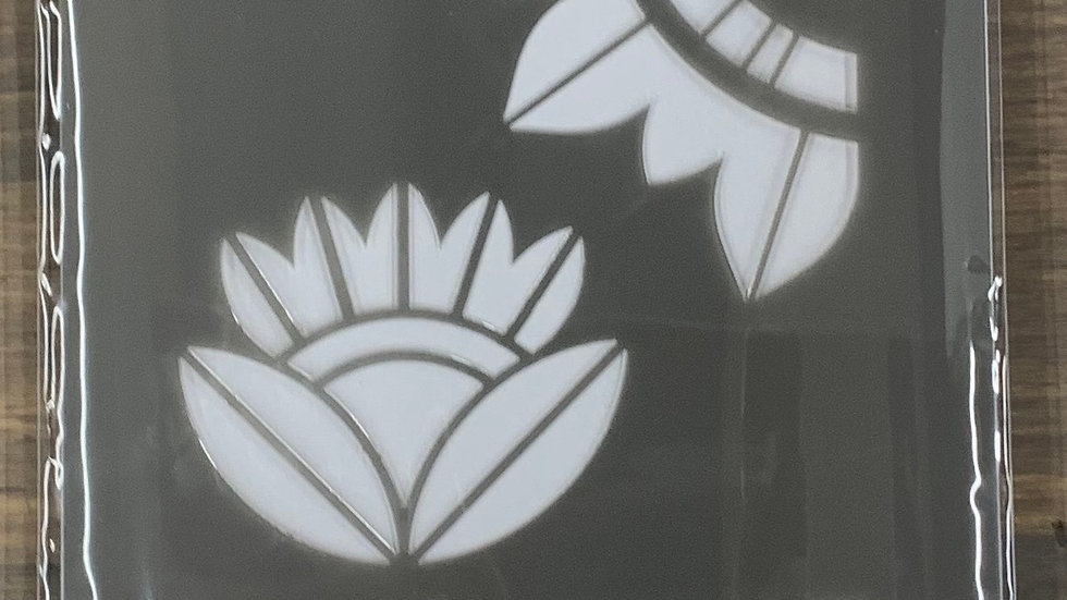 "DecoArt 6""x18"" Stencil -Mid Century Flowers"