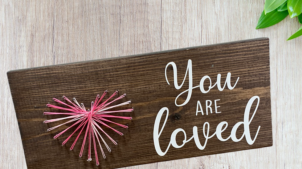 You are loved string art