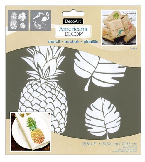 "DecoArt 8"" Stencil - Tropical"