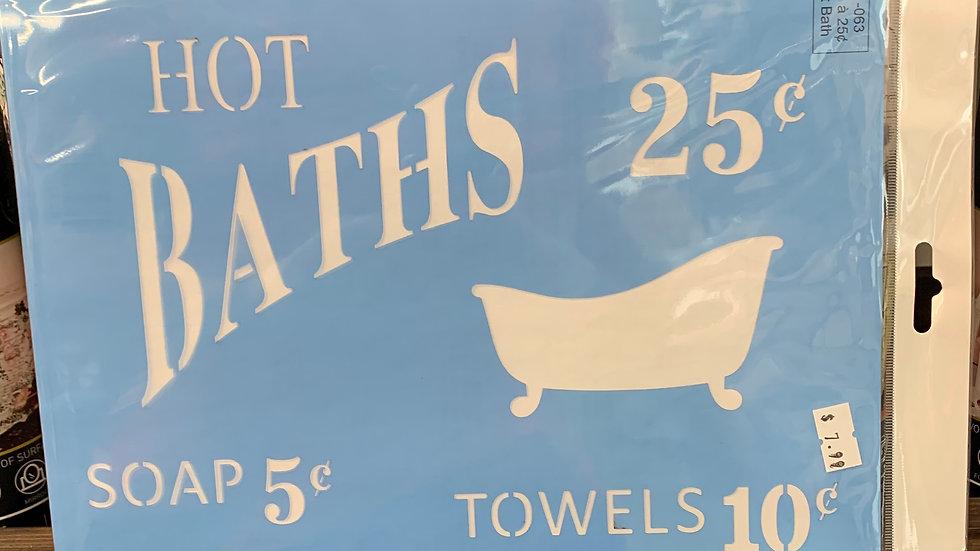 Hot Bath Stencil