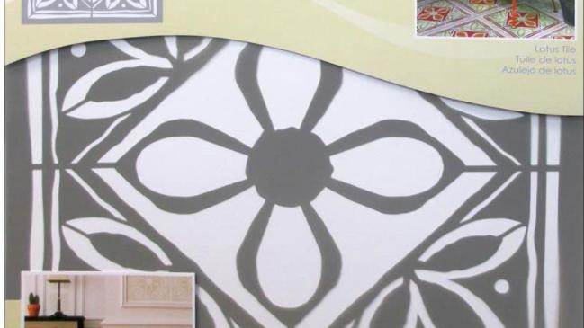 "DecoArt 18"" Stencil -Lotus Tile"