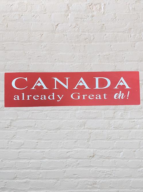 Canada 4X16 Sign
