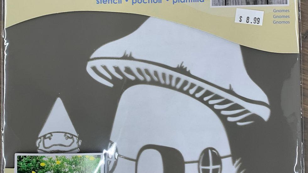 """DecoArt 8"""" Stencil -Gnomes"""