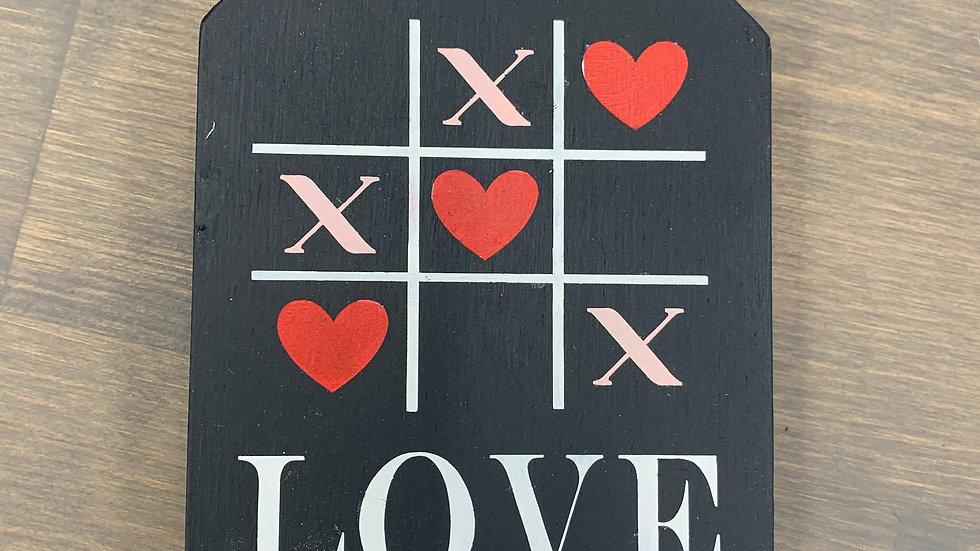 Love Small Tag - Black