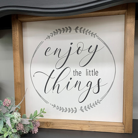 Enjoy the Little Things 12x12