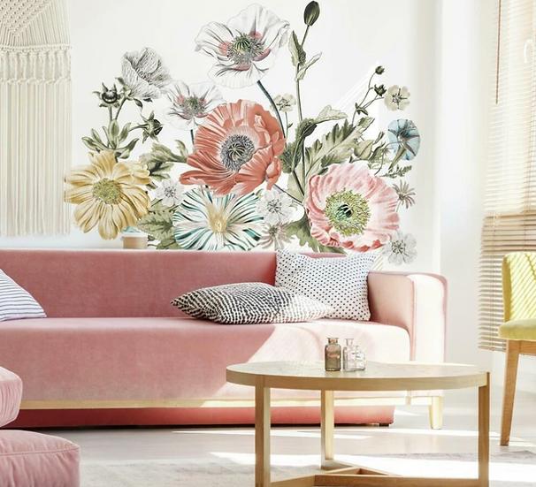 Vintage Poppy Floral