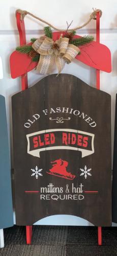 Sled Rides Decorative Sleigh