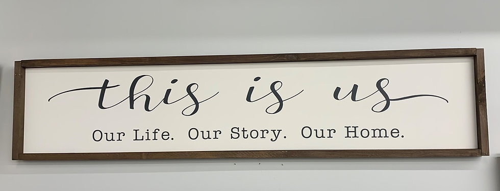 This is us Bedroom Sign - White
