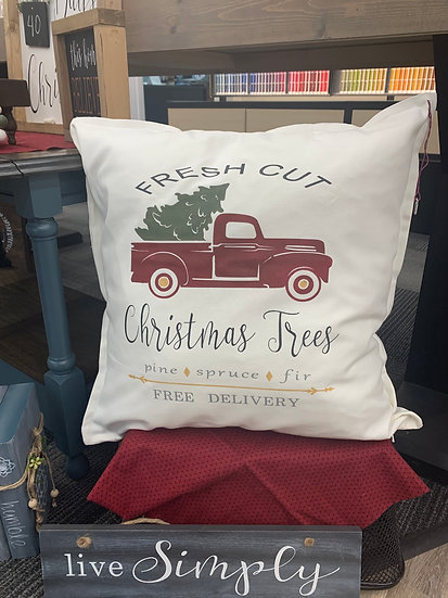 Fresh Cut Trees Pillow