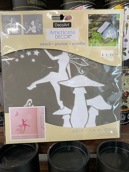 """DecoArt 8"""" Stencil - Fairies"""