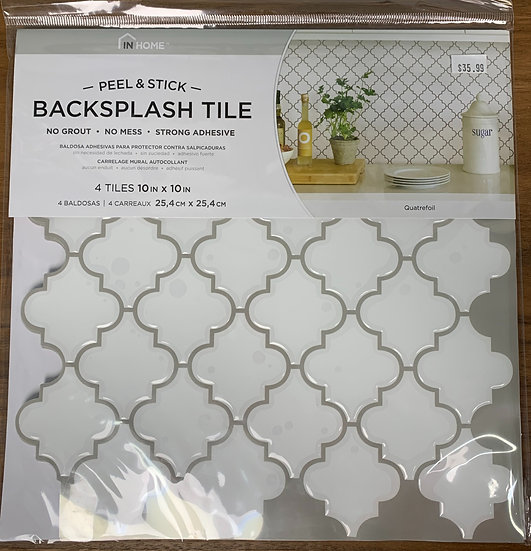 InHome Quatrefoil Peel & Stick Backsplash Tiles