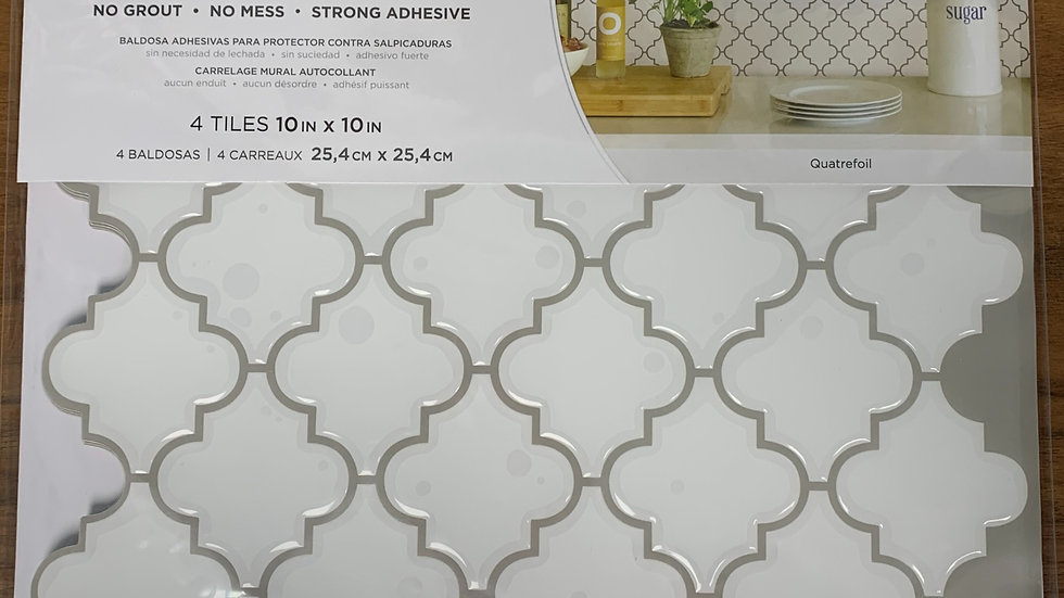 InHome Quatrefoil Peel & Stick Backsplash Tiles