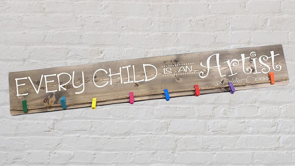 Child Art Display