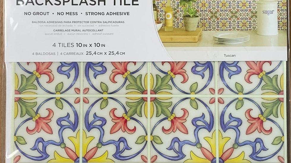 InHome Tuscan Tile Peel & Stick Backsplash Tiles
