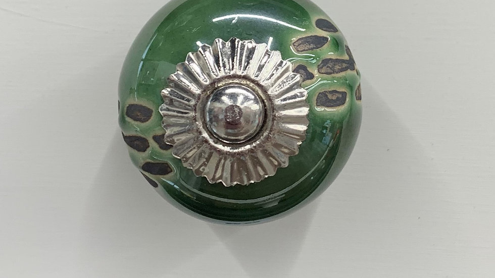Green Ceramic Knob