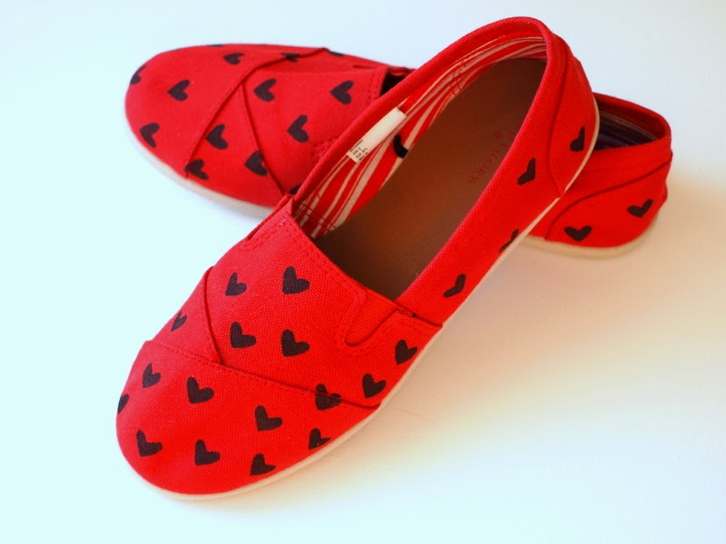 Stenciled Shoes