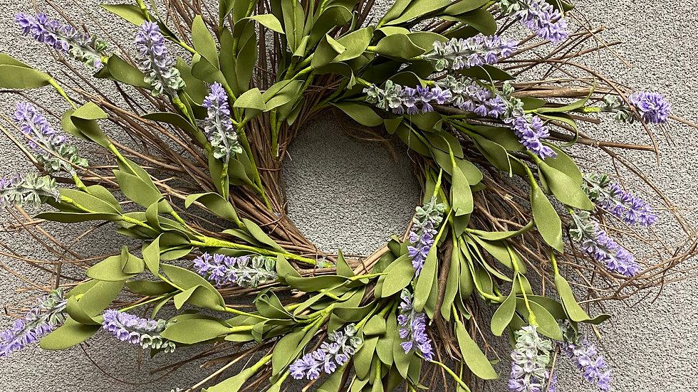 """Alluring Lavender Wreath 4.5"""""""