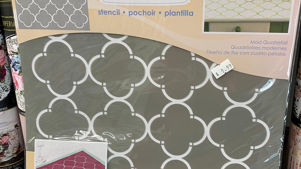 """DecoArt 12"""" Stencil -Mod Quatrefoil"""