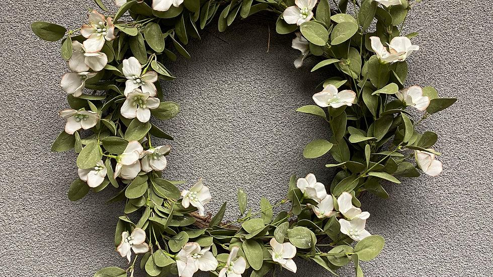 "Dappled Dogwood Wreath 22"""