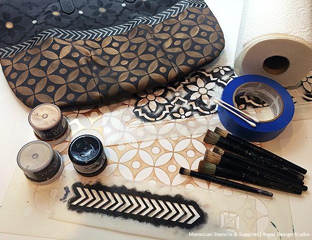 3-fabric-moroccan-stencils-and-metallic-