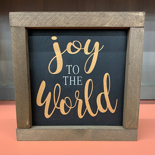 Joy to the World 7X7 Sign