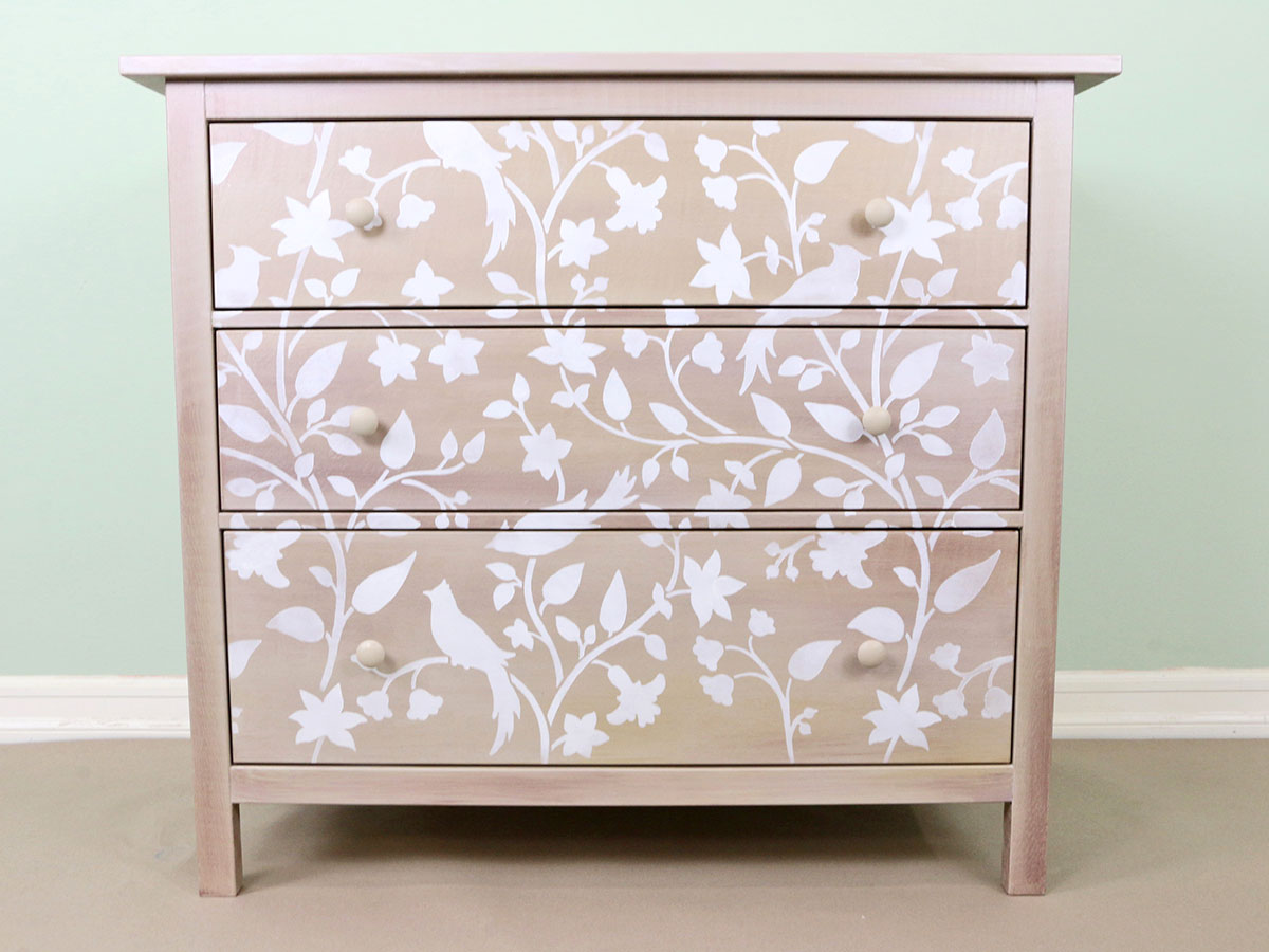 Dresser-5-Painted-and-Stenciled-Metallic
