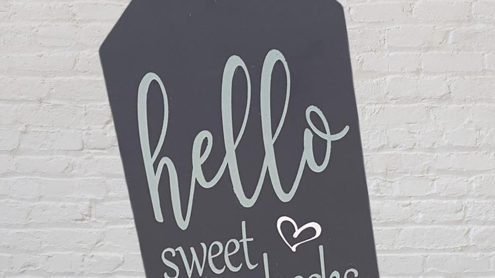 Hello Sweet Cheeks Small Tag
