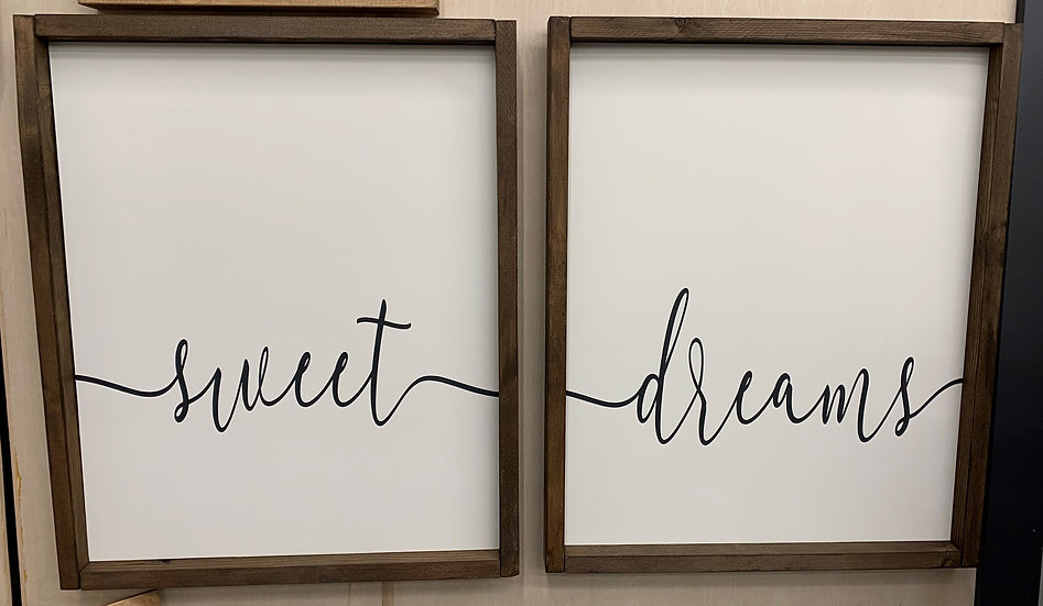 Sweet Dreams Bedroom Sign Set