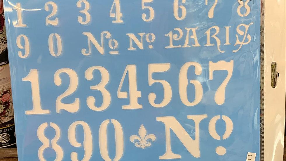 Numerals Stencil