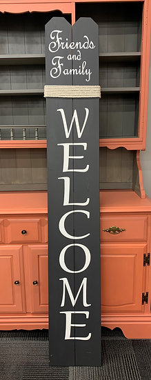 Welcome Sign - Friends & Family - Brown