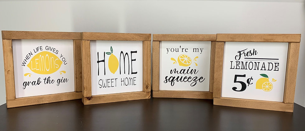 Lemon Signs - Set of 4