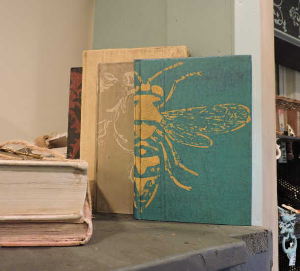 annie-sloan-chalk-paint-stenciled-books-