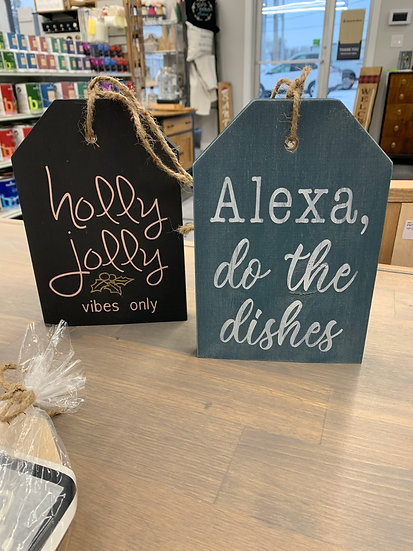 Large Door Tags DIY