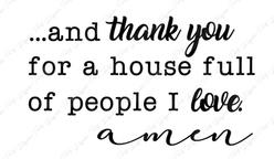 Thank you Amen