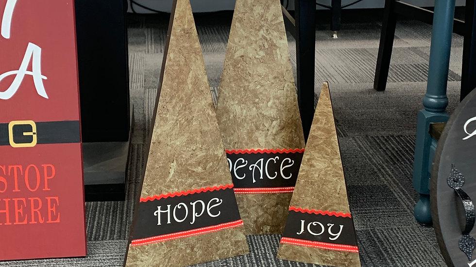 Hope Peace Joy Tree Set