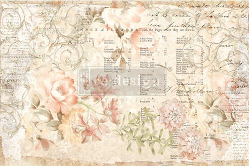 Re-Design Decoupage Paper  - FLORAL PARCHMENT