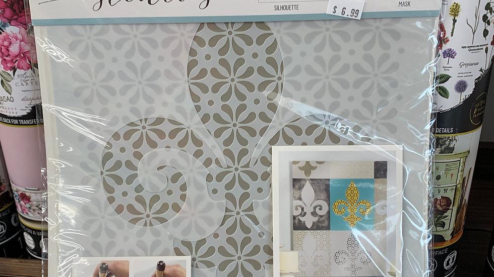 FolkArt Stencil -Fleur de lis