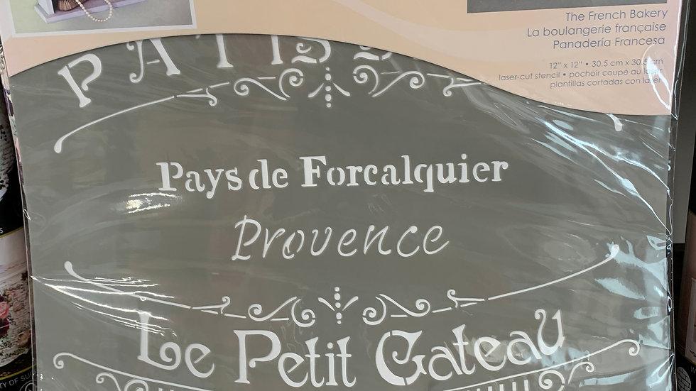 "DecoArt 12"" Stencil -The French Bakery"