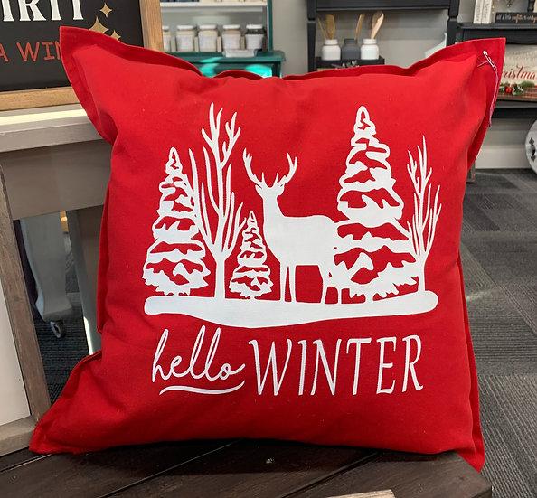 Hello Winter Pillow