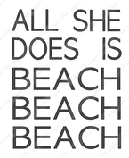 All She Does is Beach