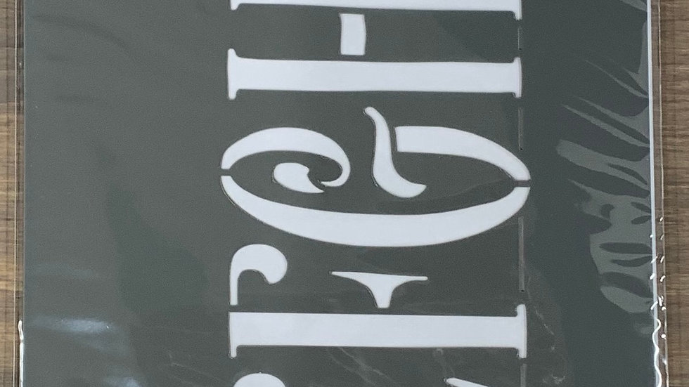 "DecoArt 6""x18"" Stencil -Curly Alphabet"