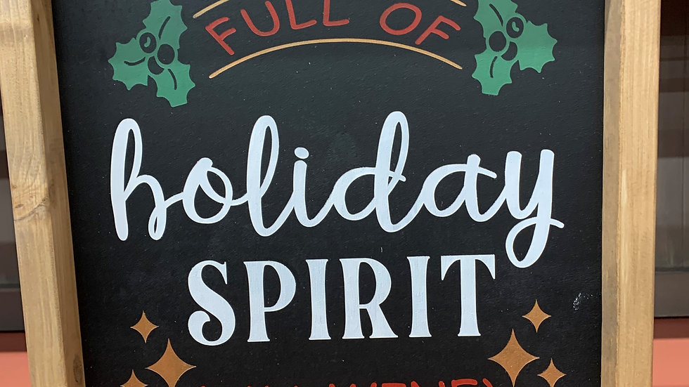 Holiday Spirit 12x12 Sign