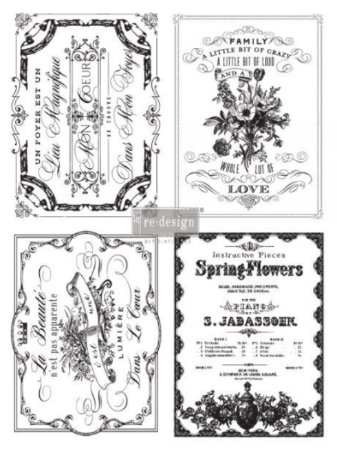 Re-Design Transfer - SPRING FLOWERS